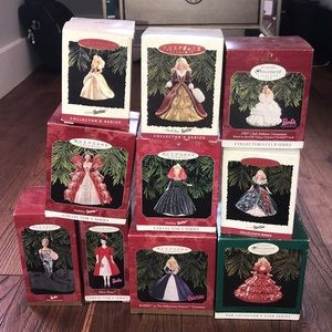 Bundle of 10 vintage Barbie Christmas ornaments
